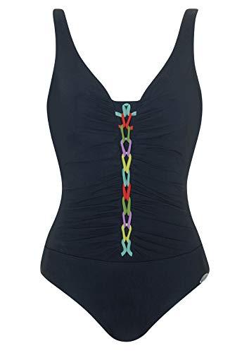 Sunflair Badeanzug Basic schwarz/Multicolor 48 D