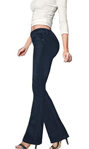 Hybrid & Company Women's Skinny Bootcut Stretch Pant P31697BLX Dark WASH 14