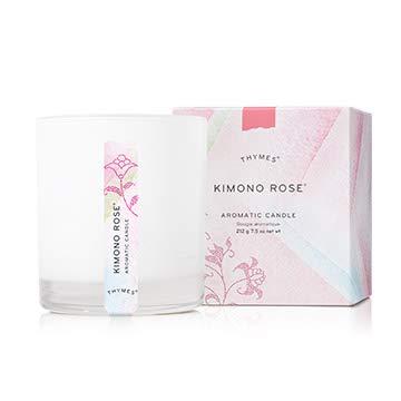 Thymes Aromatic Candle - 7.5 Oz - Kimono Rose