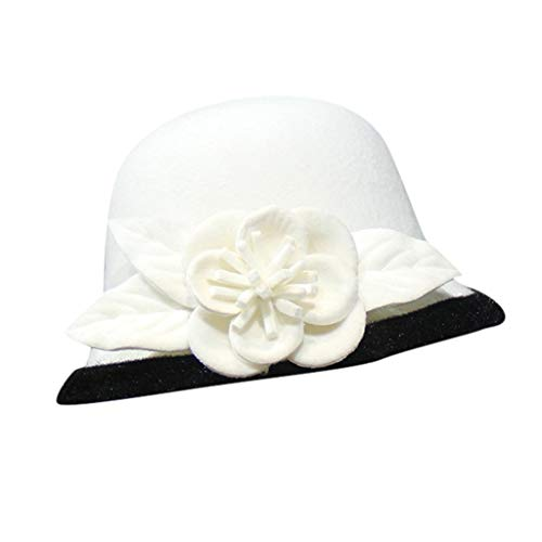 jieGorge Women Fashion Beret French Style Painter Hat Cap Vintage Warm Party Top Hat, Hat, Clothing Shoes & Accessories (White)