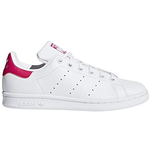 adidas Stan Smith Zapatillas Blancas para Mujer. Tenis, Sneaker.Ms (37 1/3 EU, White/Pink Pr)