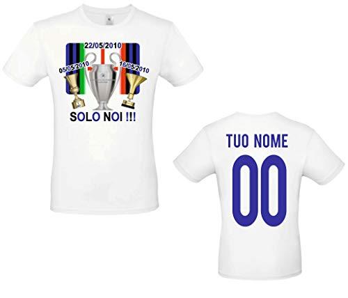 MAESTRI DEL CALCIO Maglia T-Shirt CELEBRATIVA TROFEI Coppa Italia, Scudetto, Champions League 2010 Inter TRIPLETE