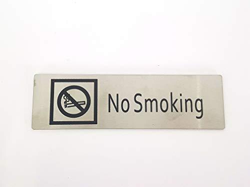 takestop® Set van 2 stuks papieren stickers rechthoekig sticker metaal No Smoking ESY_10157 DIVIETO vochtige deur deurplaat metalen bord 17 x 5 cm sticker