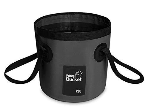 BANCHELLE - Cubo plegable para almacenamiento de agua, 20 litros, portátil, plegable, para viajes, senderismo, pesca, barco,...