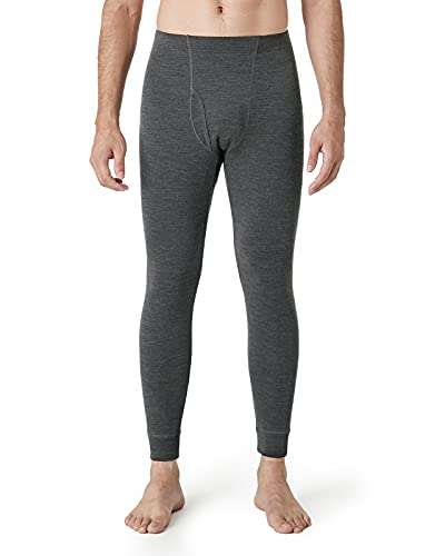 LAPASA Merino Wool Base Layer for Men, 100% Merino Wool Long Johns Pants, Mens Thermal Underwear Bottom Ski and Hunting, M30, Lightweight, Large, Dark Grey, 1 Pack