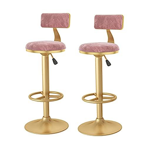 barstolar Swivel barstolar, justerbar räknarehöjdstol, höjd justeras från 24 till 31,5 tum, max belastning med upp till 200 kg svängbar barstol (Color : A1, Size : 2pcs)