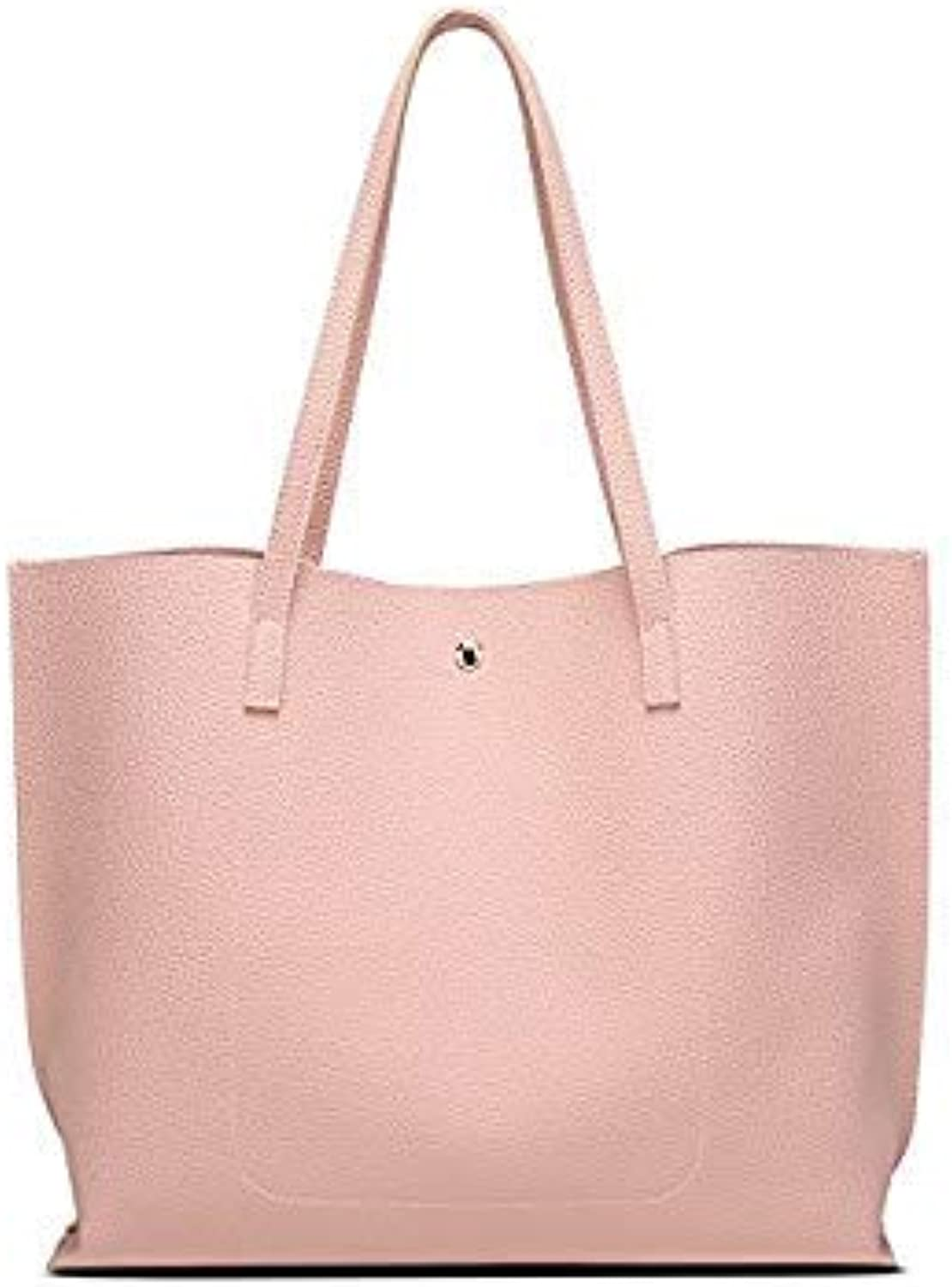 Bloomerang EAYIN Women Bag Fashion Women Leather Handbag Brief Shoulder Bags Large Capacity Luxury Handbags Tote Bags Design color Pink 36x11x30cm