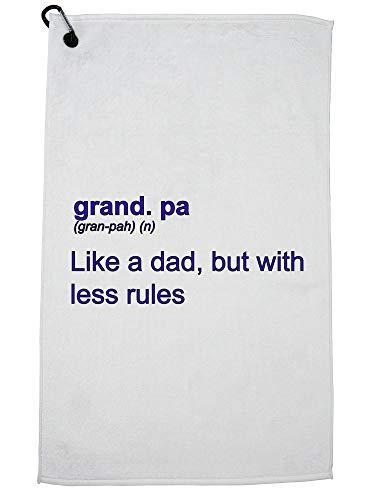 Hollywood Thread Opa - Net als papa met minder regels - Grappige Definitie Golf Handdoek met Karabijnhaak Clip