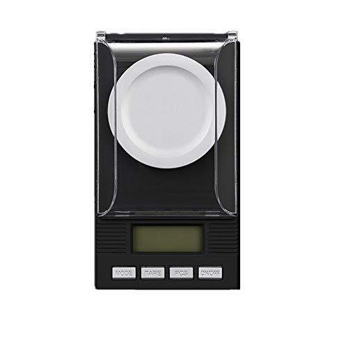 nulala digitale milligram-weegschaal van elektronische sieradenweegschaal met 0,001 g minitas, etui, pincet, kalibratiegewicht en weegschaal 20G 0,001 zilver