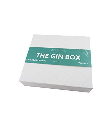 The Gin Box Tasting Set mit 10 Gin Sorten aus 10 Ländern