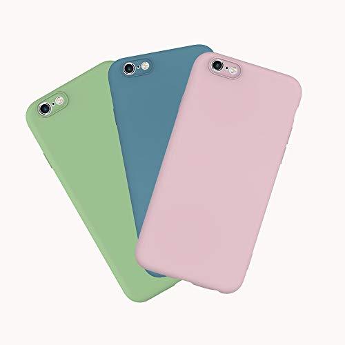 Yutwo 3X Funda para iPhone 6 Plus/6S Plus Silicona Carcasa Ultra Fina TPU Flexible Cover Funda, Goma Mate Opaco Protectiva Caso Anti Rasguños Case, Cover Bumper para iPhone 6 Plus/6S Plus - 3 Color