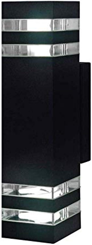 ZYY IP55 wasserdichte Auenwandlaterne Platz Auenwand Sicherheitsleuchten Lampe für Gartenterrasse Zaun Gang Balkon Dekoration (Farbe  Schwarz)