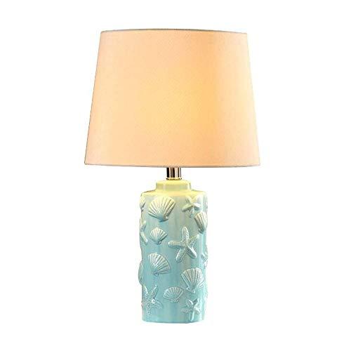 YM963 Cheng Shop - Lámpara de Mesa cerámica China Dormitorio lámpara de cabecera Simple Moderna de América del Estilo Rural del Estilo Europeo E27