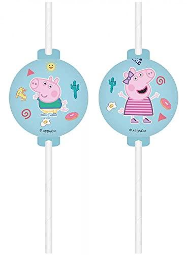 ILS I LOVE SHOPPING Kit Festa Coordinato Tavola Addobbi Party Set Compleanno (Peppa Pig, Decorazione Torta)