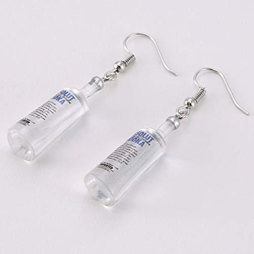 deYukiko Creative Cool Vodka Bottle Drop Earrings Funny Drinking Style Cartoon