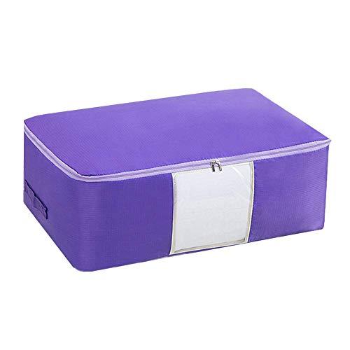 ZLJ Storage Bags Large Storage Bags Storage Bags Storage Bags with Zippers Cloth Storage Bag Storage Bags Storage Bags Storage Bags Storage Bags Duvets Large Storage Bags Purple M