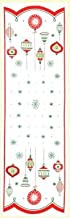 Holiday Table Runner by Red and White Kitchen Company Red
