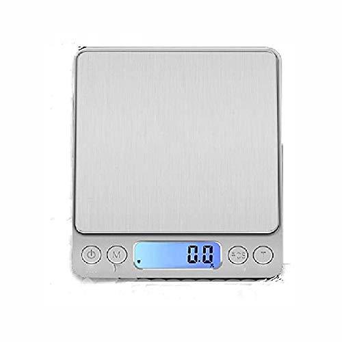 ZBQLKM Escala de cocina Actualizada, 1000 g / 0.1g Mini escala, cocción a escala de alimentos con pantalla LCD con luz trasera, pantalla LCD para perder peso, hornear, cocinar, ceto y preparación de c
