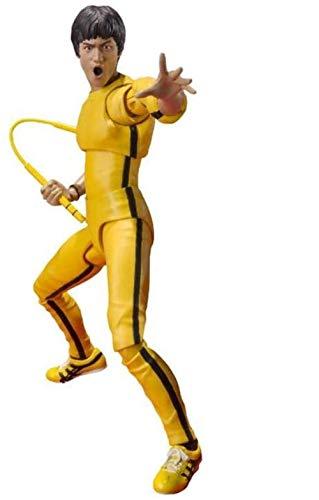LJXGZY Regalo SCH.Figuarts Bruce Lee Version de chandal Amarillo - 5 51 Pulgadas Figura de accion Coleccion Decoracion Modelo Regalo de cumpleanos Estatua