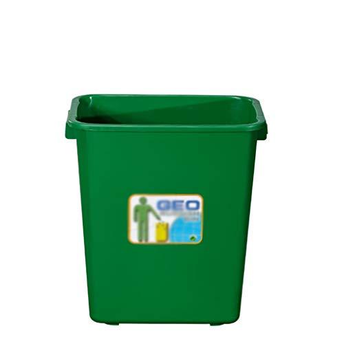 Plastic vuilnisbakken, verdikking zonder deksel Capaciteit 25L Recycling Box park Hotel office Waste Bin 39 * 35 * 25CM (Color : Blue, Size : 39 * 35 * 25CM)