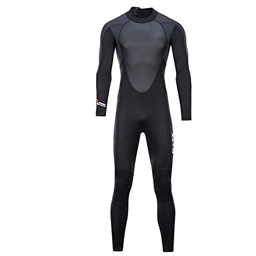 ReedG Traje de trabajo de los hombres ultra estiramiento Una pieza para hombres, snorkeling, buceo nadando, surf. Natación de buceo (Color : Black, Size : M)