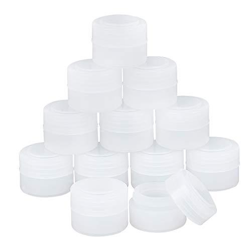 BENECREAT 30PCS 2ml Frascos Vacíos de Maquillaje Pequeños de Silicona Mini Envases Redondos de Muestra de Cosméticos con Tapas para Cremas, Lociones, Arte de Uñas con Purpurina