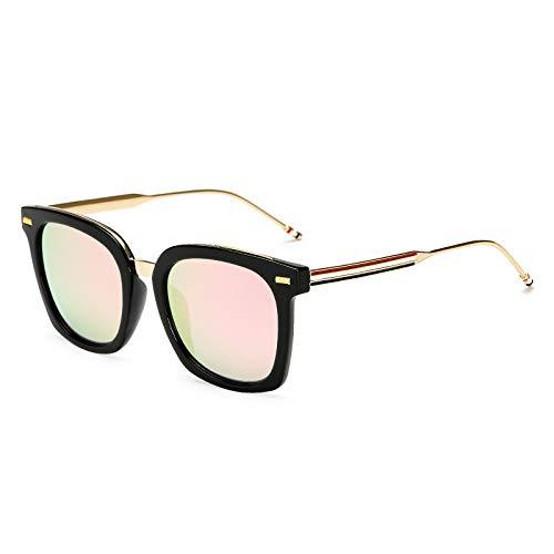 Gafas de sol de moda para mujer gafas de sol recubiertas de colores Europa y Estados Unidos gafas de sol grandes con montura de montura rosa claro