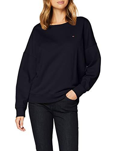 Tommy Hilfiger Damen Oversized Open-nk Sweatshirt Ls Pullover, Desert Sky, S