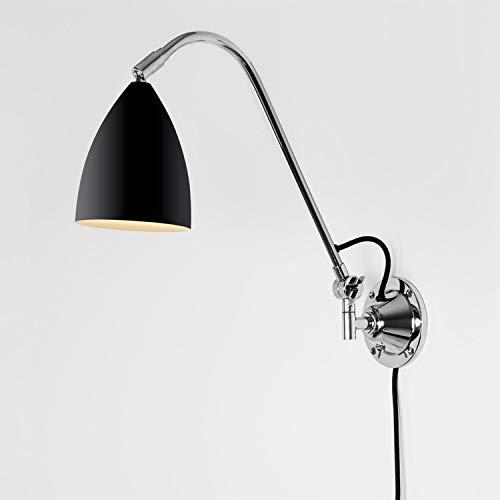 Bras pivotant Lampe Joel Grande Couleur : Noir
