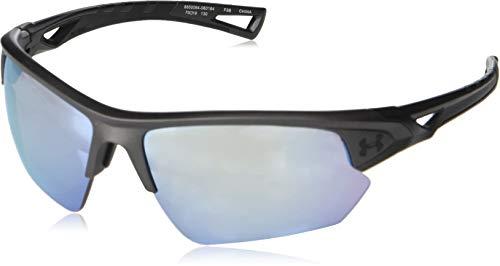 Under Armour Octane Wrap Sunglasses, Gray/Tuned Baseball Lens, 68 mm