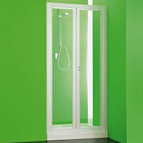 Box porta doccia Maestro pvc,cm110-100,nicchia scorrevole profilo bianco