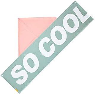 LEADWORKS(レッドワークス) クーリングタオル SO COOL グリーン 大判 フード付き 冷感タオル クールタオル ひんやりタオル 水に濡らすだけ 50815
