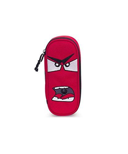 Portapenne INVICTA - LIP PENCIL BAG FACE - Rosso - porta penne scomparto interno attrezzato