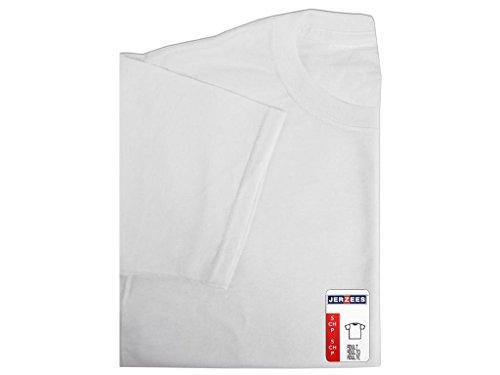 Jerzees weißes T-Shirt für Erwachsene, Mehrfarbig, 28,7 x 19,3 x 3,3 cm