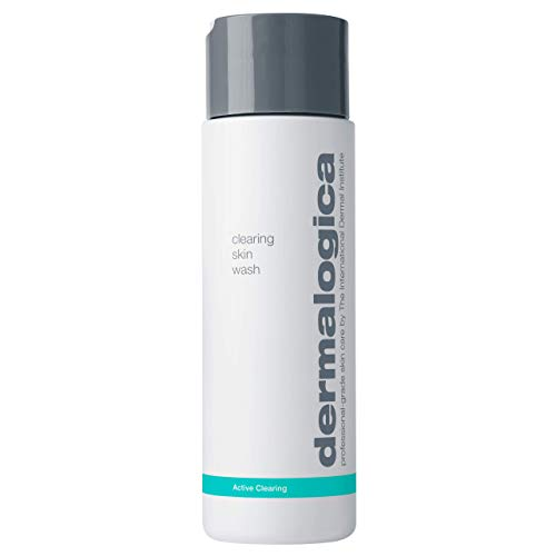 Dermalogica Clearing Skin Wash (8.4 Fl Oz) Anti-Aging Acne Face Wash - Natural Breakout Clearing Foam with Salicylic Acid and Tea Tree Oil