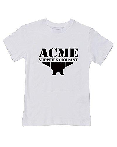 Acme Anvil – Supplies, Company – T-shirt humoristique pour bébé/enfant - Blanc - 2-3 ans