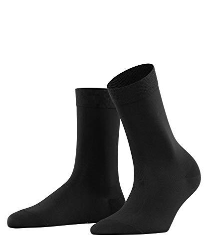 FALKE Damen Socken Cotton Touch, Baumwolle, 1 Paar, Schwarz (Black 3009), 39-42 (UK 5.5-8 Ι US 8-10.5)