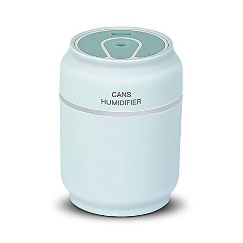 XLNB 3 in 1 Aromatherapie Diffusor Ultraschalldose Luftbefeuchter Luftreiniger Led Nachtlicht USB Fan Büro Lufterfrischer,Blau