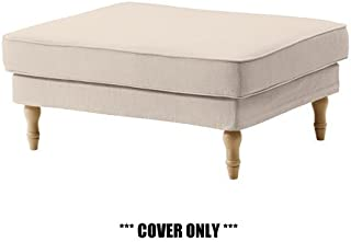 IKEA STOCKSUND - Slipcover for Footstool Nolhaga Light Beige NEW (cover only)