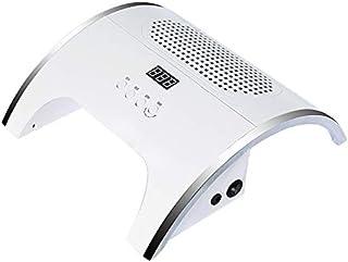 Uñas Secador 80W LED 2 en 1 UV LED Lámpara de uñas Inducción infrarroja 10/30/60 / 99s con aspiración de conducto de uñas 2 Aspirador de ventilador para herramienta de manicura