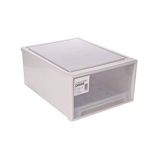 Caja de zapatos WDX para ahorrar espacio, caja de almacenamiento transparente para zapatos, conveniencia (color transparente, tamaño: 28 x 36 x 16 cm)