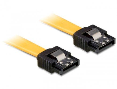Delock SATA 6 GB/S kabel recht op onderen hoek 70 cm geel