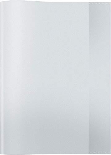 HERMA 7490 Heftumschlag DIN A4 transparent, durchsichtig, Hefthülle aus strapazierfähiger und abwischbarer Polypropylen-Folie, Heftschoner für Schulhefte, farblos / klar