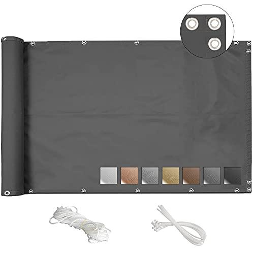 MEEYI Brise Vue Balcon 90x800cm Cache Balcon Exterieur écran pour Couverture de confidentialitéé écran Jardin Brise-Vue pour Balcon...