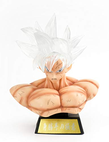 DBZ Actions Figures GK GK Ultra Instinct Goku Figure Statues Busts Figurine Illuminated Collection Birthday Gifts PVC 6 Inch