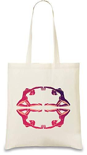 Raum gymnastischer Yogakreis - Space gymnastic yoga circle Custom Printed Tote Bag| 100% Soft Cotton| Natural Color & Eco-Friendly| Unique, Re-Usable & Stylish Handbag For Every Day Use| Custom