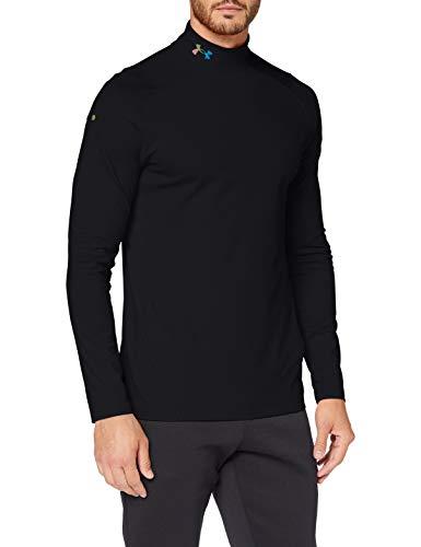 Under Armour Rush Coldgear 2.0 Mock, Camiseta de Manga Larga Hombre, Negro (Black/Reflective), XL