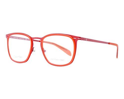 Calvin Klein Brille (CK-5416 615) Metall - Flexon - Plastik matt rot - kristall rot