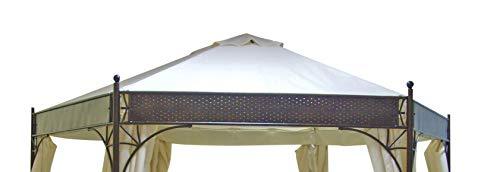 DEGAMO Ersatzdach für Pavillon Lagos 6-eckig 350cm, Polyester mit PVC Beschichtung wasserdicht, ecrufarben