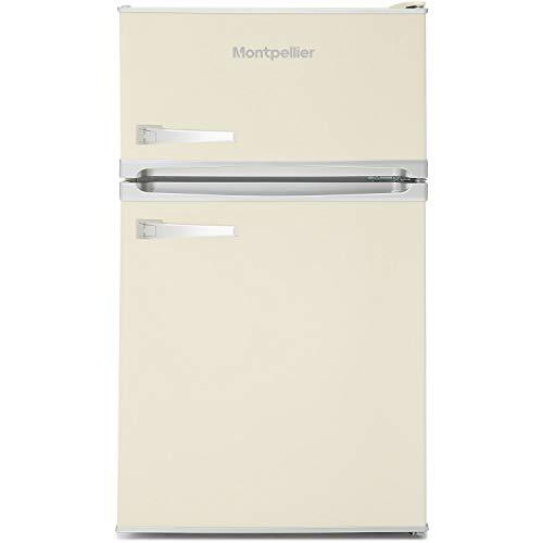 Montpellier Undercounter, Mini Retro, Fridge Freezer, Cream, 48 cm